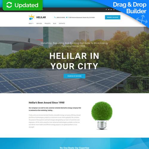 Solar Energy - MotoCMS 3 Template based on Bootstrap