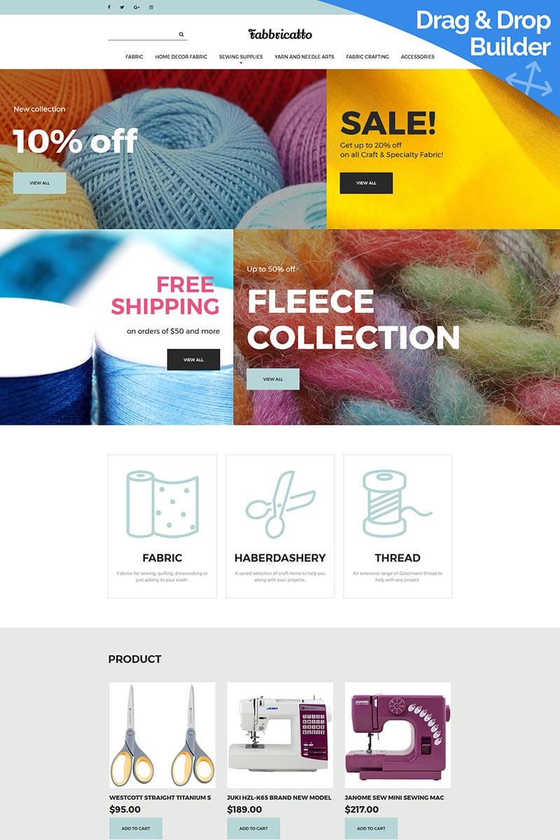 "Template MotoCMS E-commerce Responsive #65068 ""Fabricatto -  Hobbies & Crafts"""