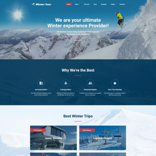 Travel Agency - MotoCMS 3 Template based on Bootstrap