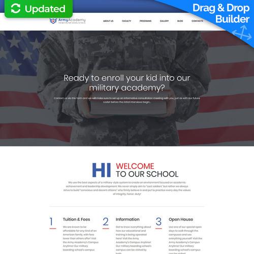 Veterans - MotoCMS 3 Template based on Bootstrap
