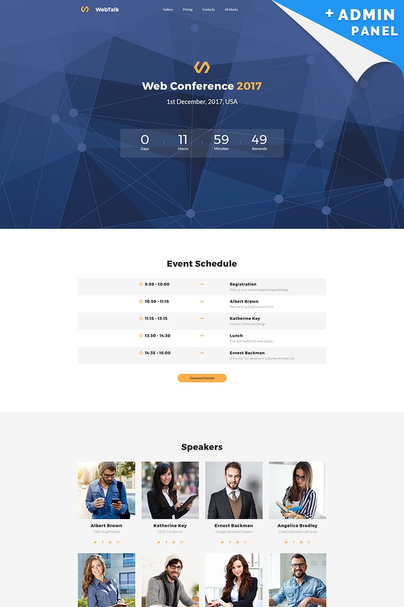 Web Talk - Conference MotoCMS 3 Landing Page Template