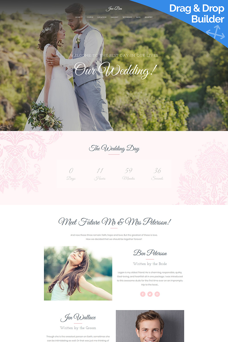 Wedding Planner Responsive Moto CMS 3 Template