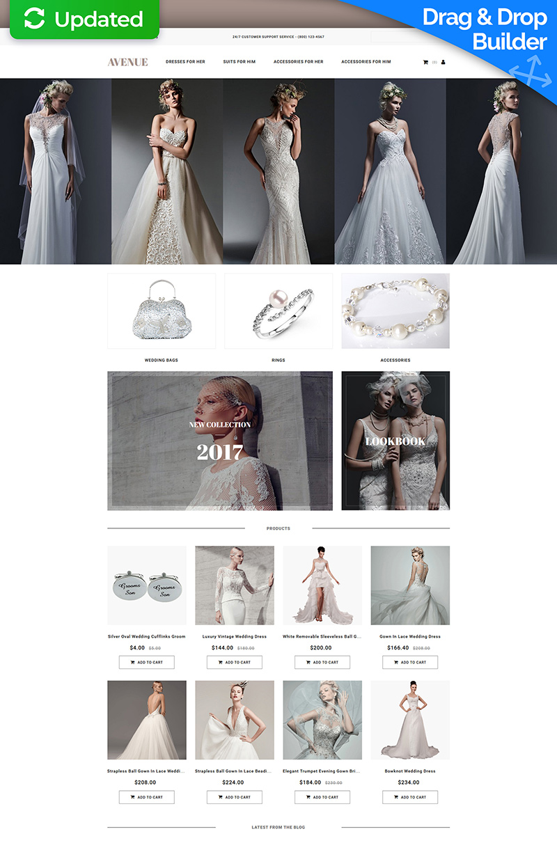 Wedding Shop Templates TemplateMonster