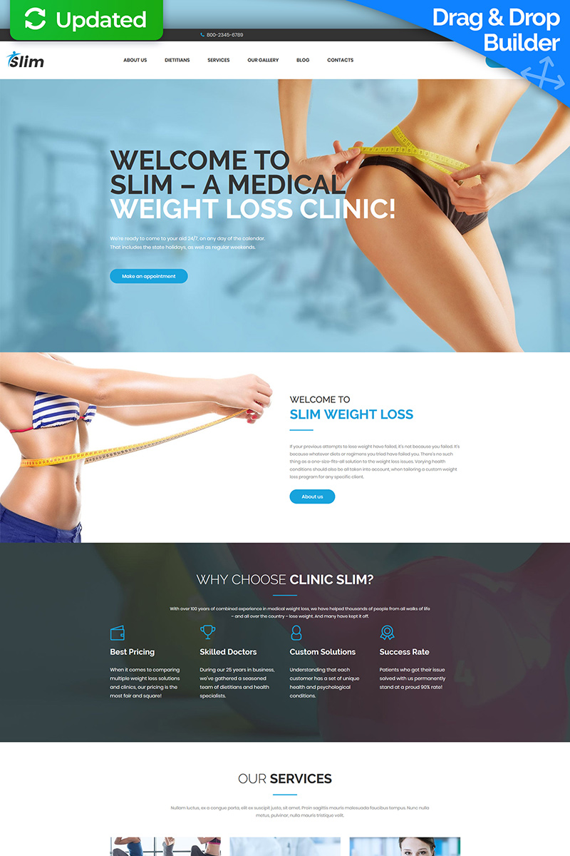 Weight Loss Responsive Moto CMS 3 Template