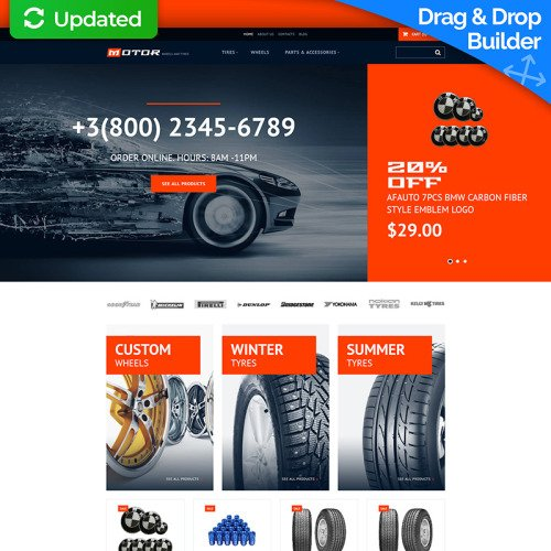 Wheels & Tires - MotoCMS Ecommerce Template based on Bootstrap