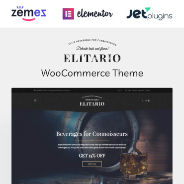 Preview image of Elitario - Liquor Store WooCommerce Theme