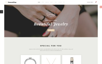 DiamondShop - Jewelry Store Joomla Template