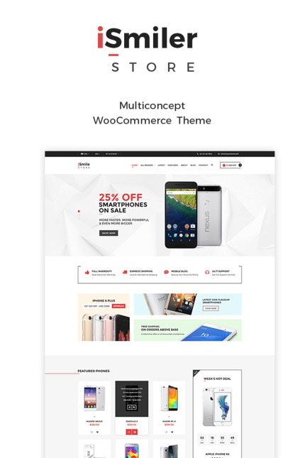Website Design Template 65127 - electronics shop woocommerce multipurpose