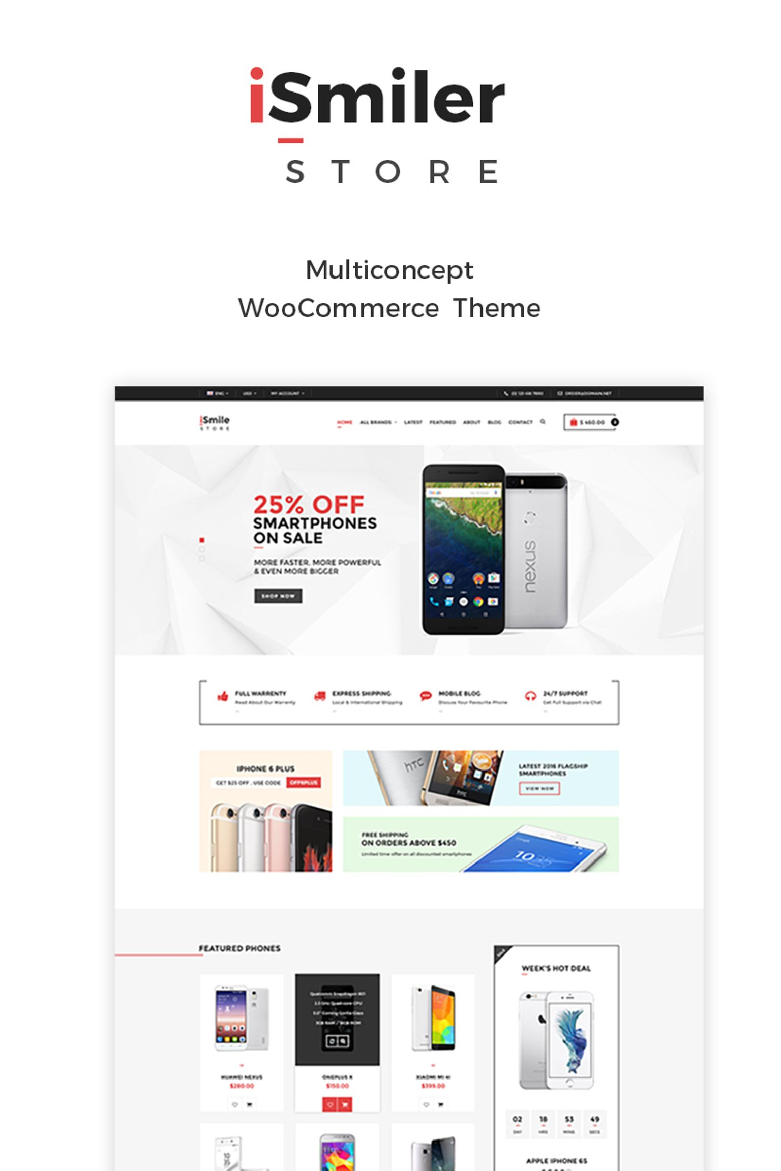 Website Design Template 65127 - electro electronics shop woocommerce multipurpose