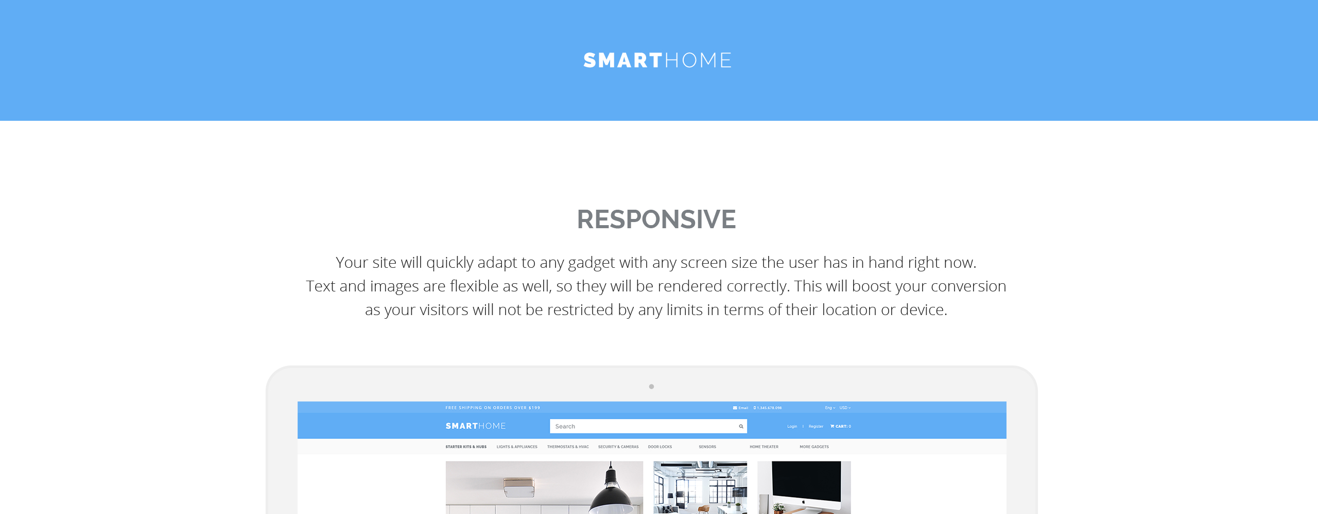 Smarthome Electronic  Responsive OpenCart Template