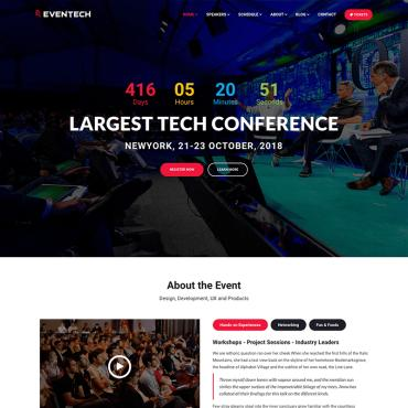 Vanilla water park website template website templates eventech conference event website template maxwellsz