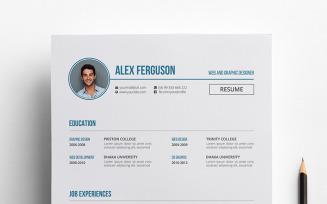 Alex Ferguson CV