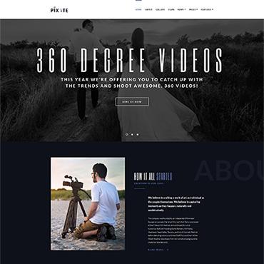 Адаптивный шаблон сайта на тему видео студия #65159