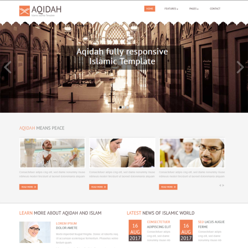 Aqidah - Joomla! Template based on Bootstrap