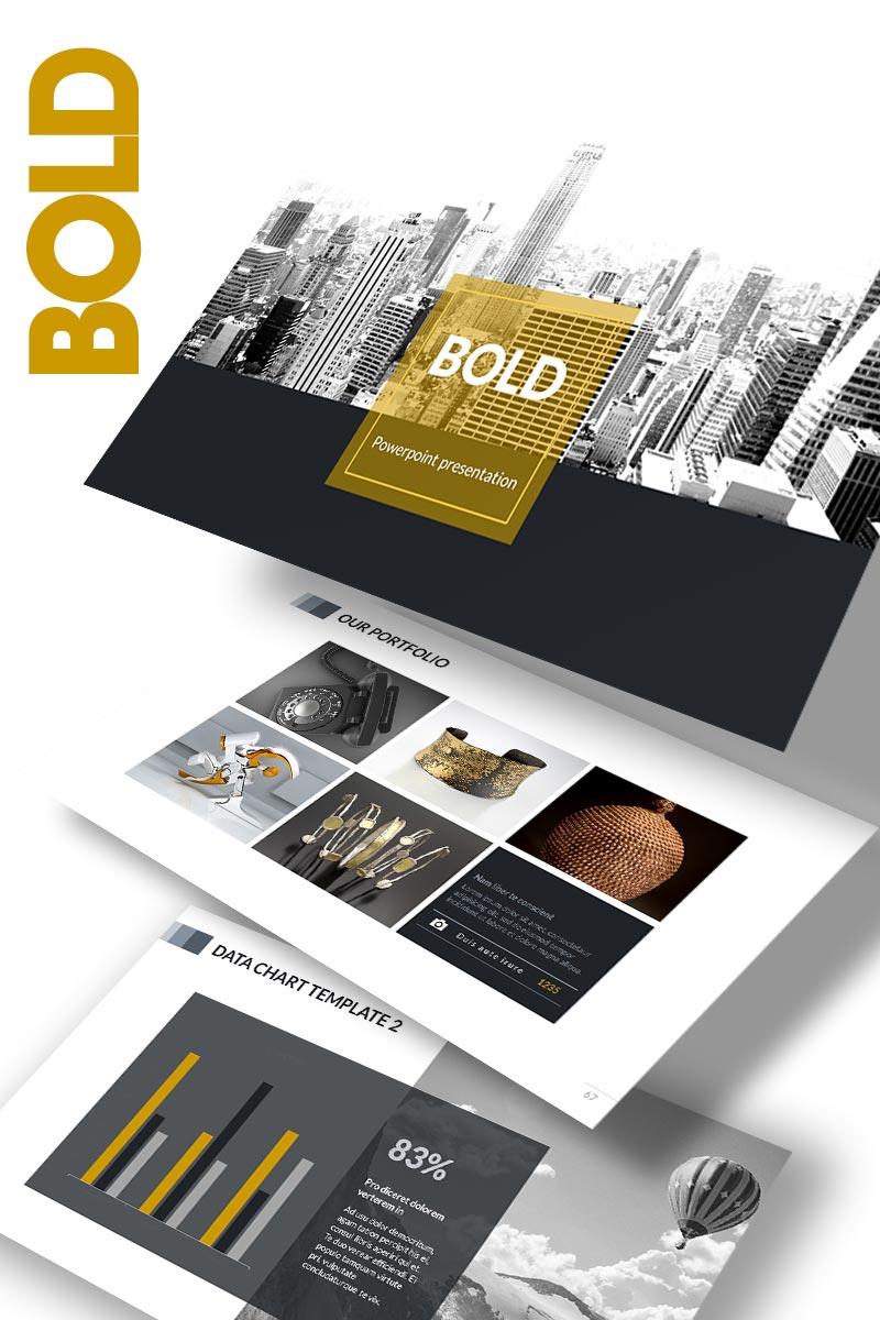 """BOLD"" modèle PowerPoint  #65152"