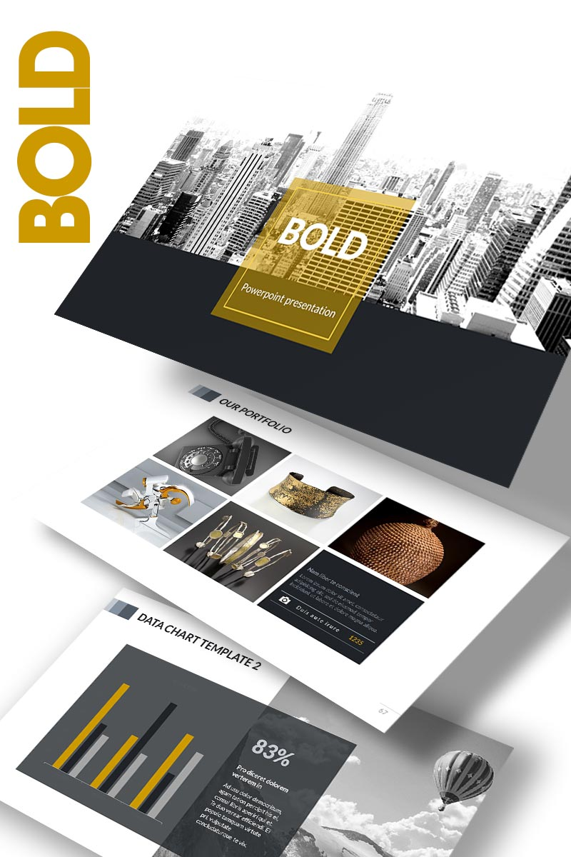 """BOLD"" PowerPoint Template №65152"