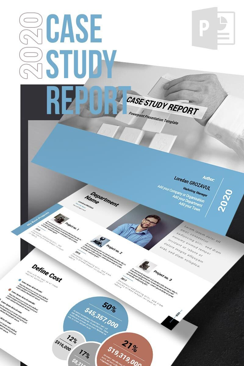 2017 - Case Study Report Template PowerPoint №65153