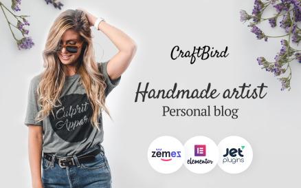 CraftBird - Handmade Artist Personal Blog WordPress theme WordPress Theme