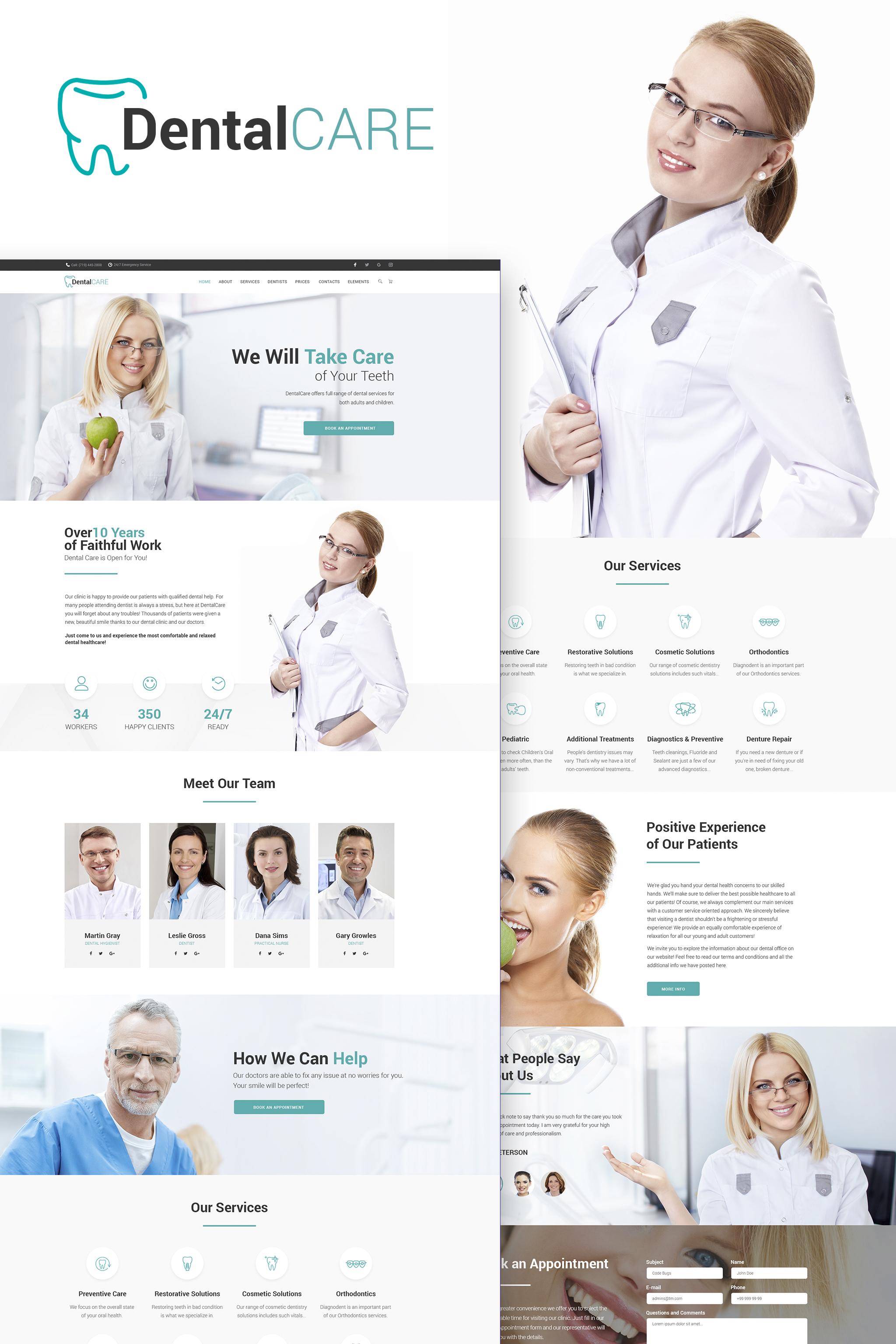 """DentalCare - Clinique dentaire"" thème WordPress adaptatif #65156"