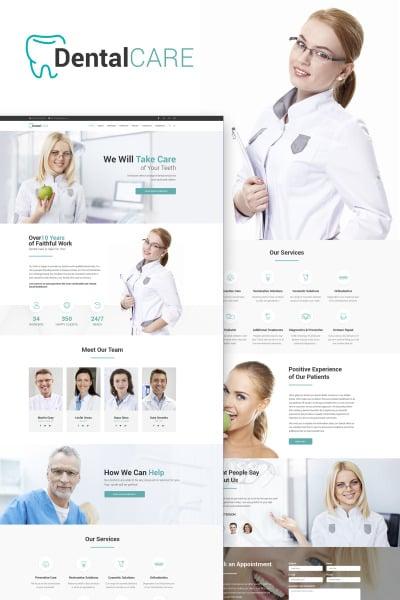 DentalCare - Dental Clinic WordPress Theme