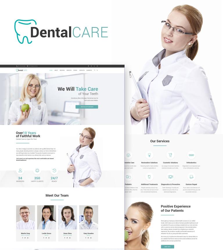 Tema de WordPress #65156 para Sitio de Odontología