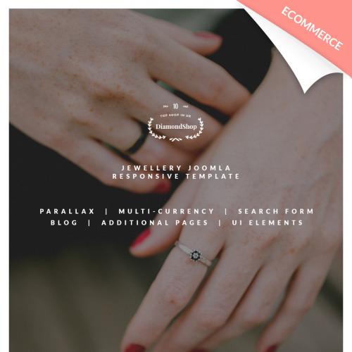 DiamondShop - Jewelry Store - Joomla! Template based on Bootstrap