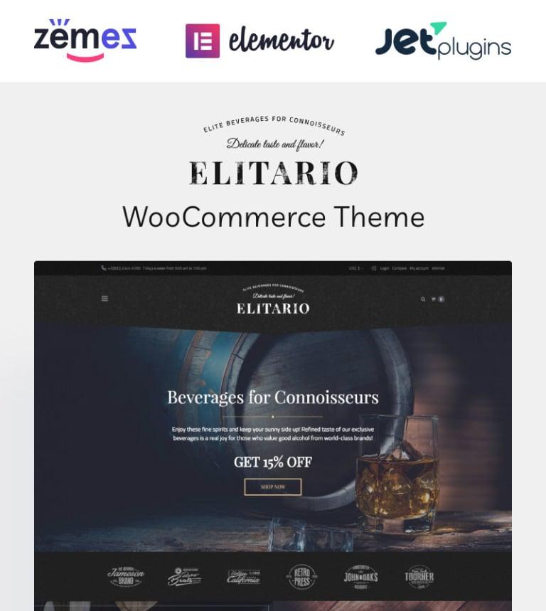Elitario - Liquor Store WooCommerce Theme