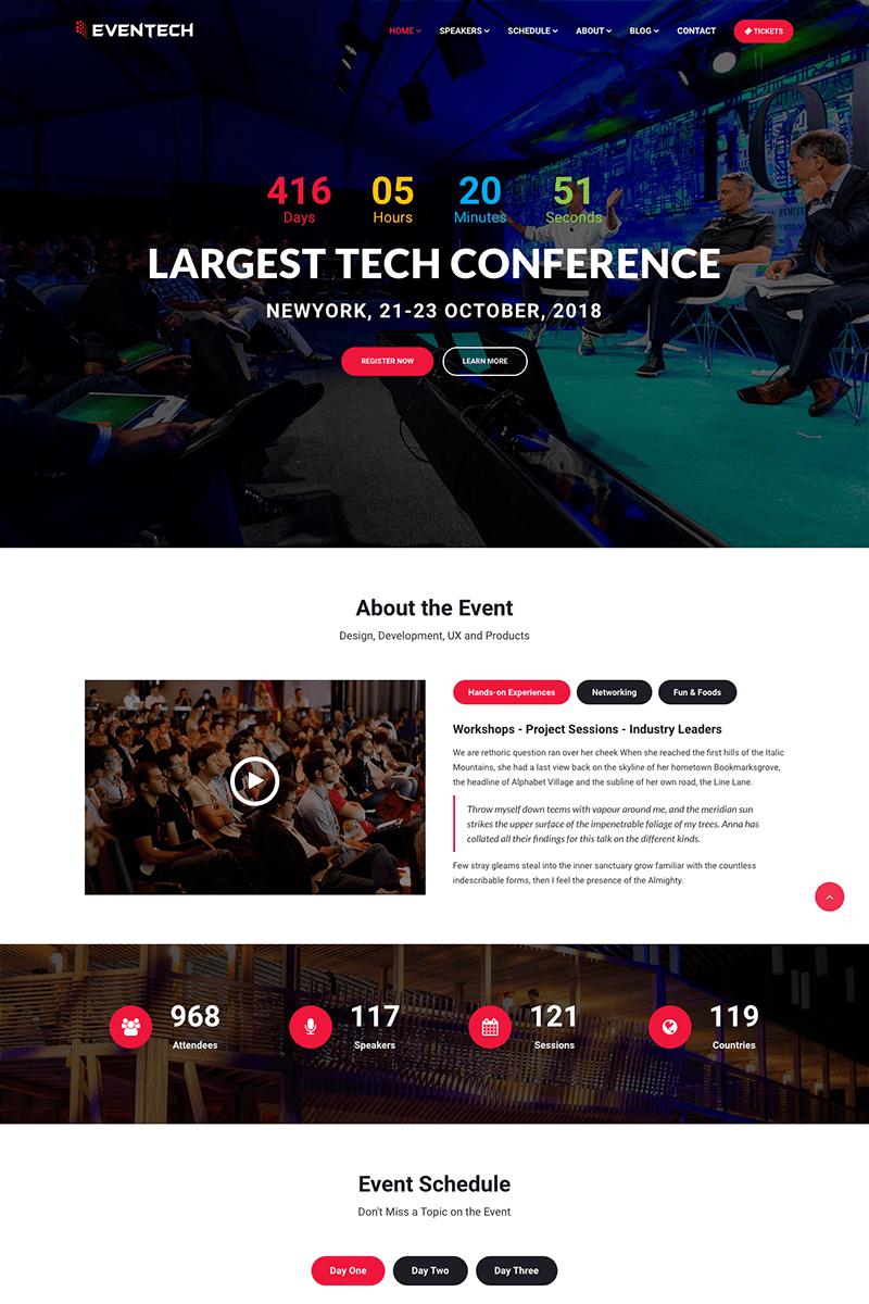eventech conference event website template 65142. Black Bedroom Furniture Sets. Home Design Ideas
