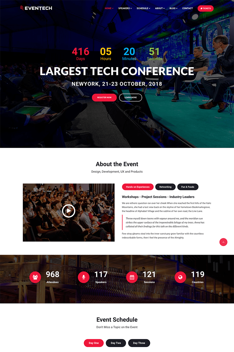 Eventech - Conference Event Website Template