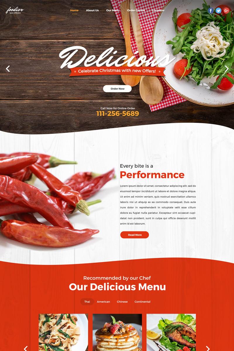 Foodier - Creative Parallax PSD Design PSD Template - screenshot