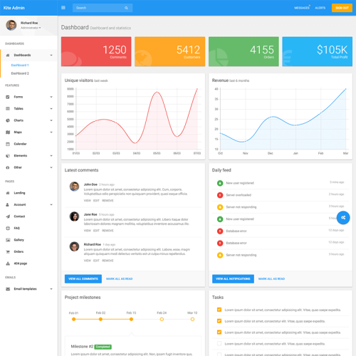 Business - Admin Template based on Bootstrap