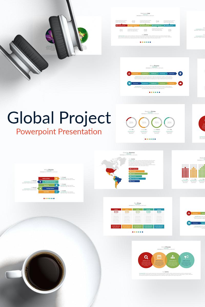 """Luxusní PowerPoint šablona """"Global Project"""" #65162"""