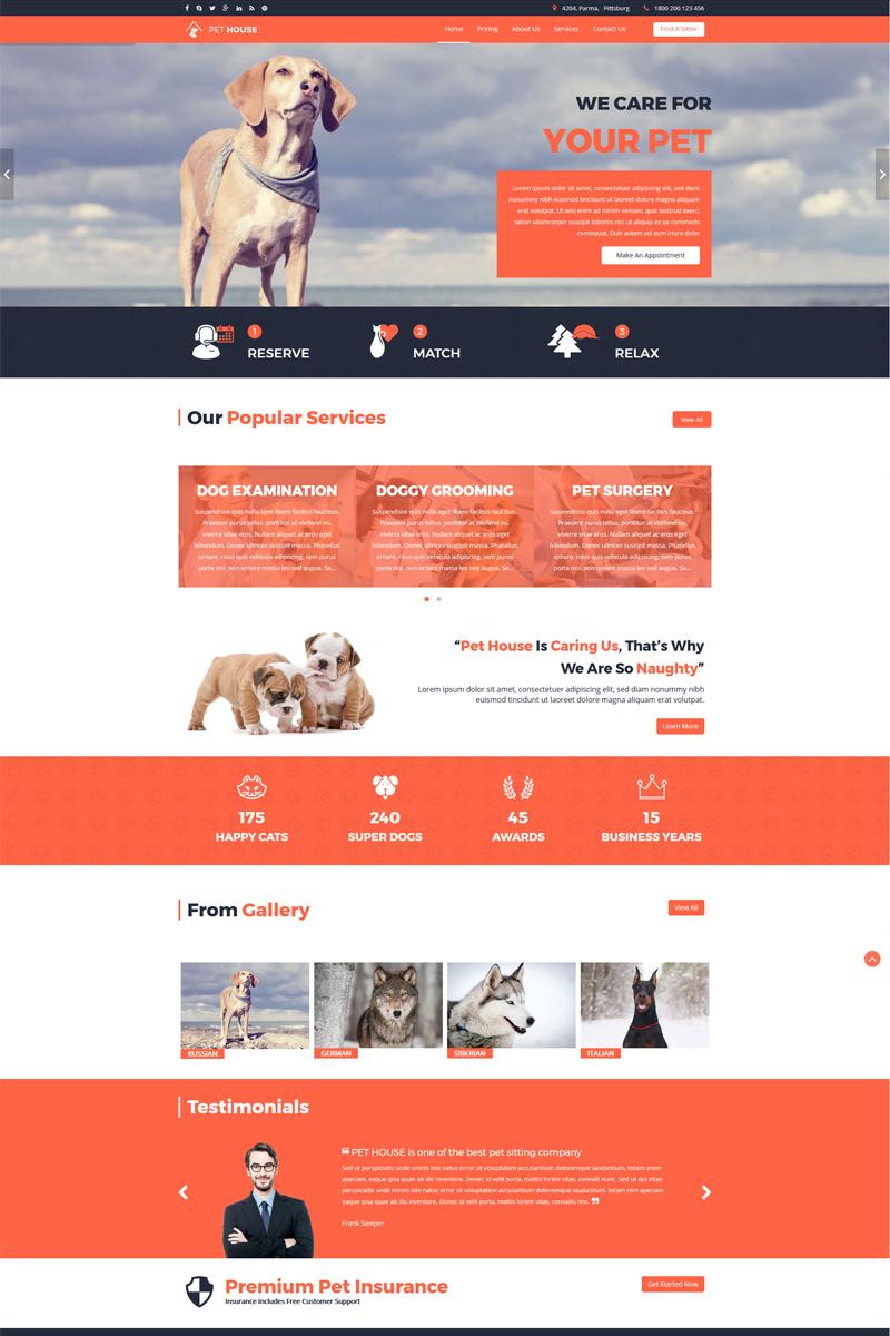 Pet House - Pet Care Service Template Joomla №65138