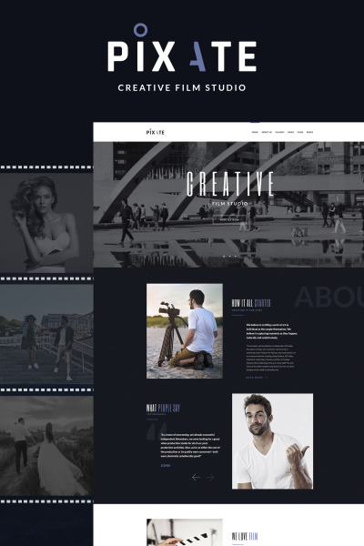 Pixate - Movie Studio WordPress Theme