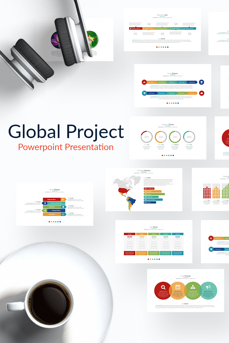 "PowerPoint Vorlage namens ""Global Project"" #65162"
