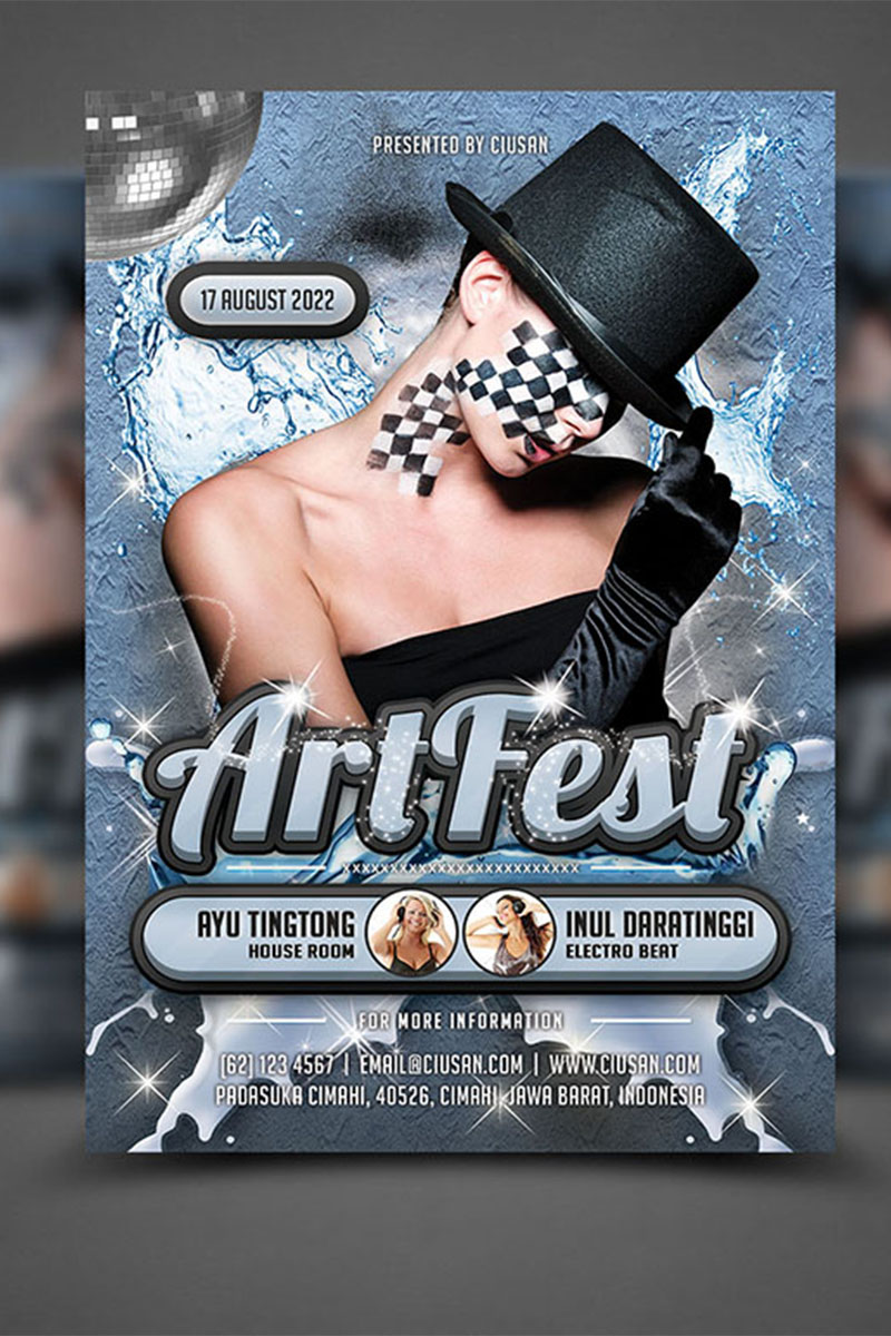 "PSD Vorlage namens ""Art Fest Flyer"" #65121"