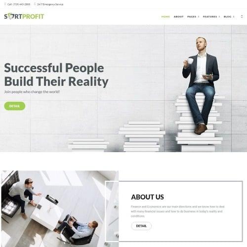 SortProfit - Business & Finance WordPress Theme - HTML5 WordPress Template