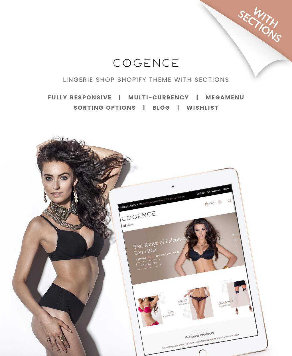 Thème Shopify adaptatif pour magasin de lingerie #65125 - screenshot