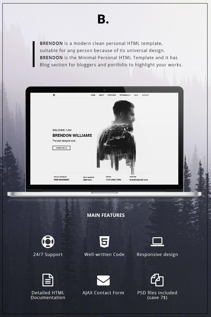 "Website Vorlage namens ""Brendon - Minimal Personal Portfolio"" #65147"