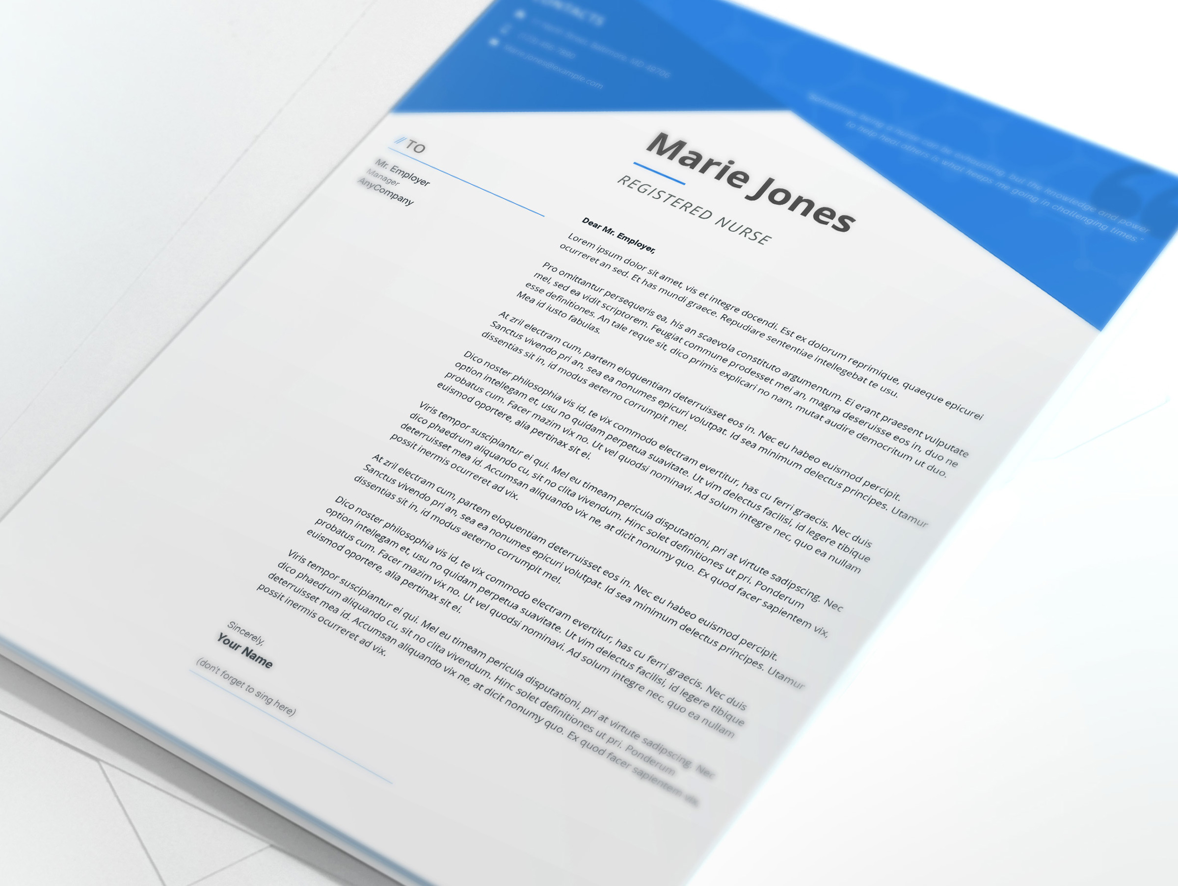 Marie Jones Professional Nursing And Medical Resume Template 65233