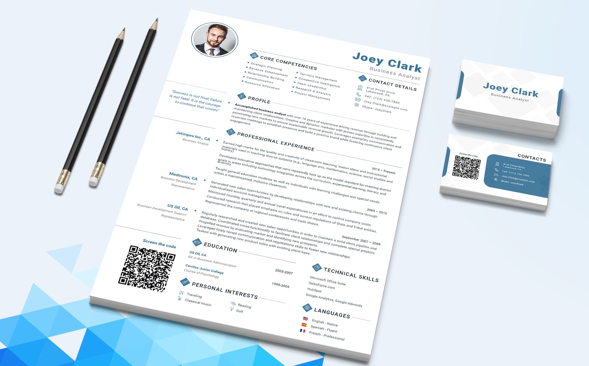 Joey Clark - Business Analyst and Financial Consultant Resume ...