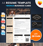 Resume Templates #65236 | TemplateDigitale.com
