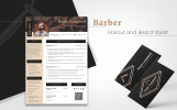 Noah Campbell - Barber, Haircut and Beard Stylist Resume Template