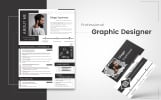 Diego Espinosa - graphic designer Resume Template