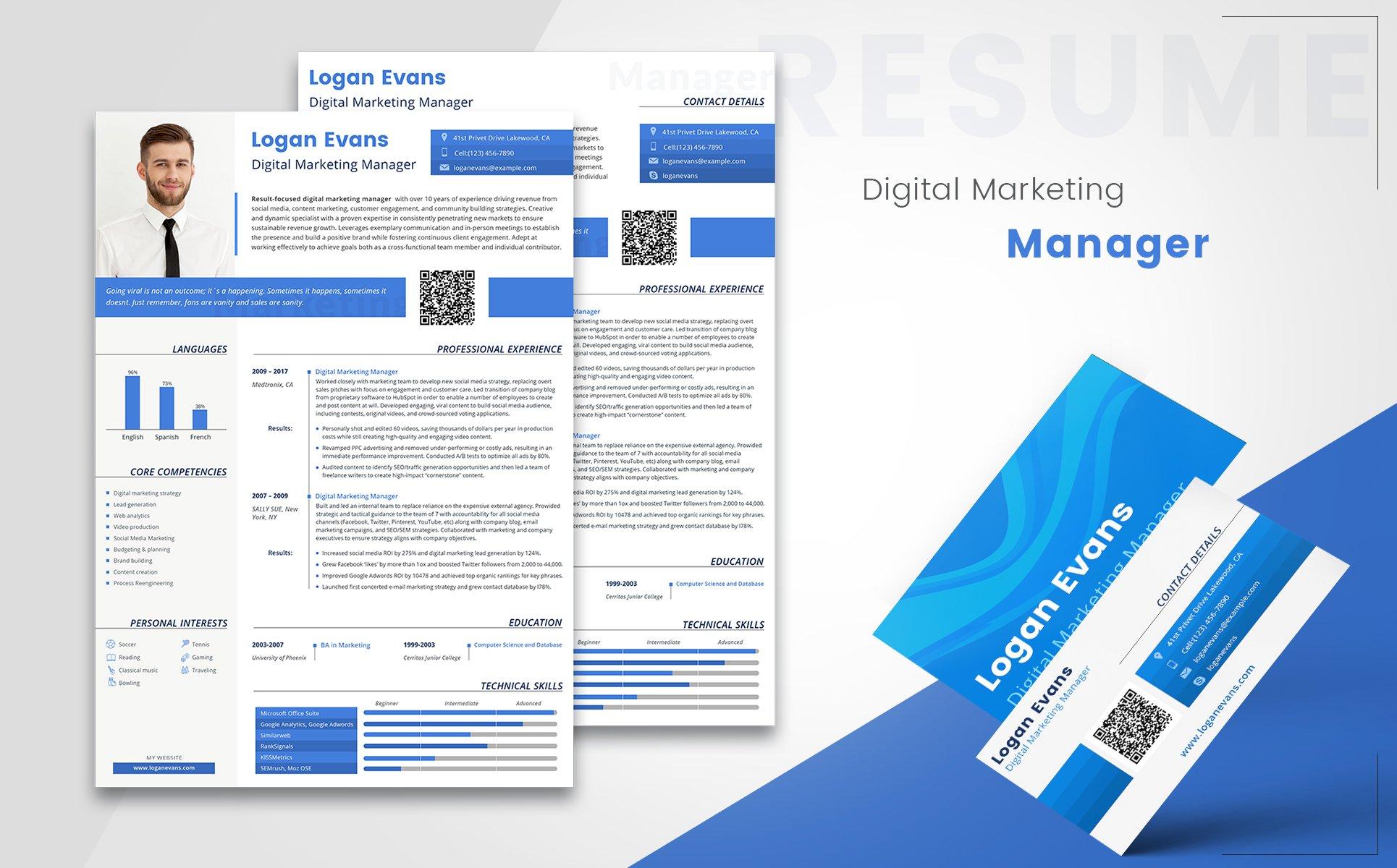 Plantilla de CV #65241 para Sitio de Agencias de marketing