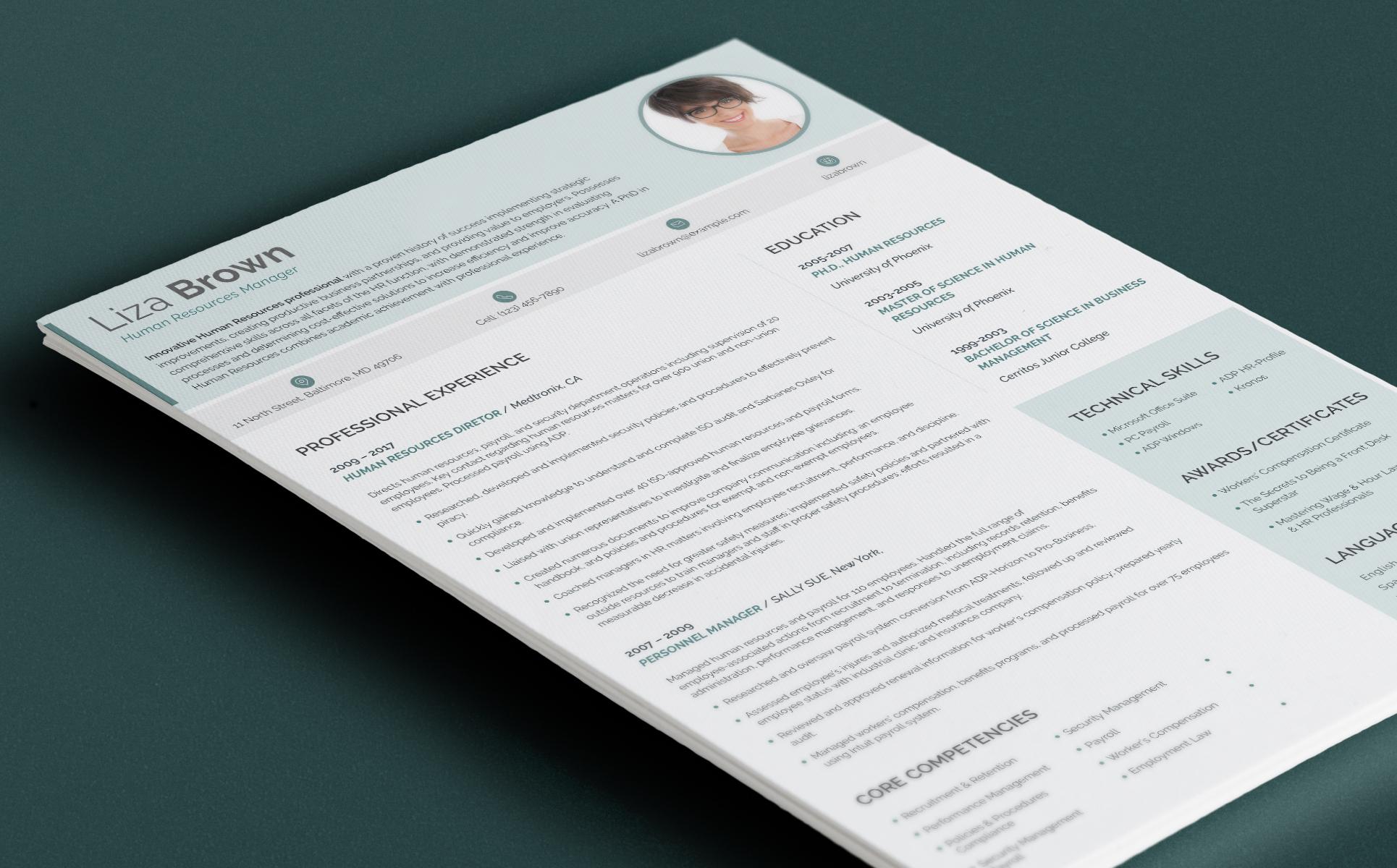 Lebenslauf-Vorlage #65248 für Jobportals