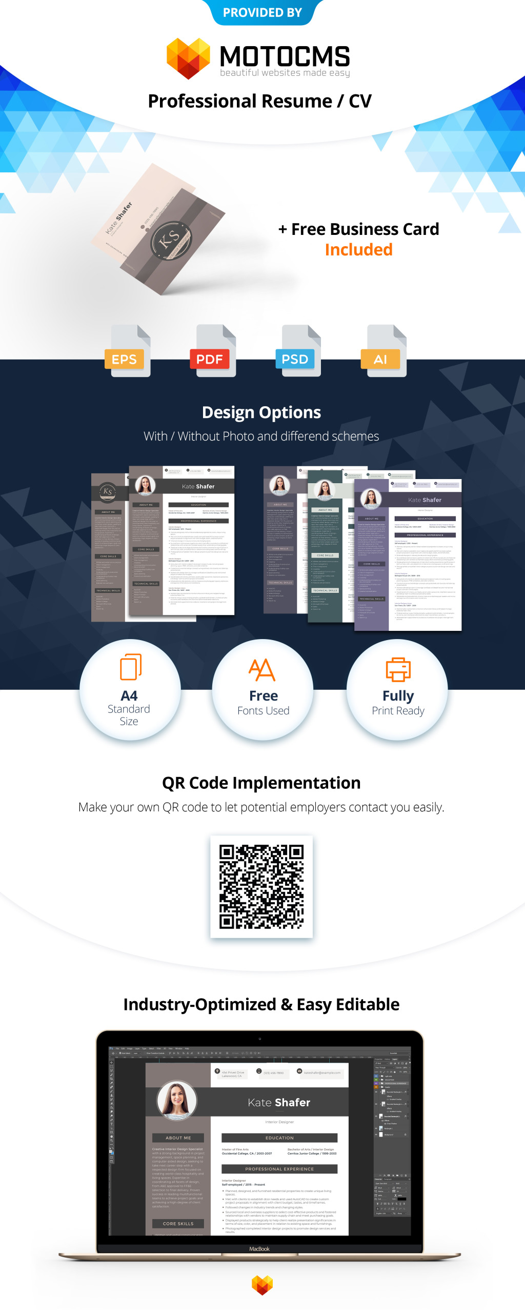 Interior Designer CV Template Will Be Especially Useful To Everyone Related Design And Decor Creative Stylists Home Decorators Furniture Renovation