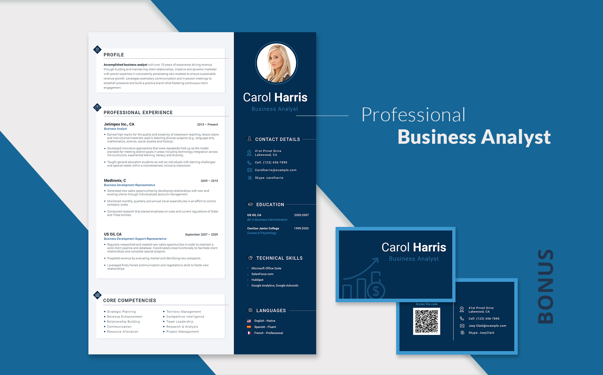 Carol Harris Business Analyst And Financial Consultant Resume