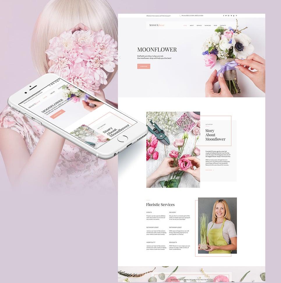 Plantilla para moto cms html - Categoría: Flores - versión para Desktop