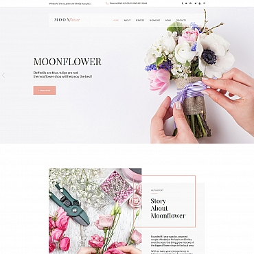 Preview image of Flowers Moto CMS HTML Template No. 65264